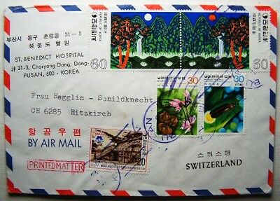 Korea Brief Pusan Schweiz Hitzkirch Schildknecht St. Benedict Hospital 1198 99
