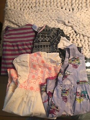 Beautiful Lot Of 4 Mini Boden And Tea, Spring Summer Dresses, 18-24months