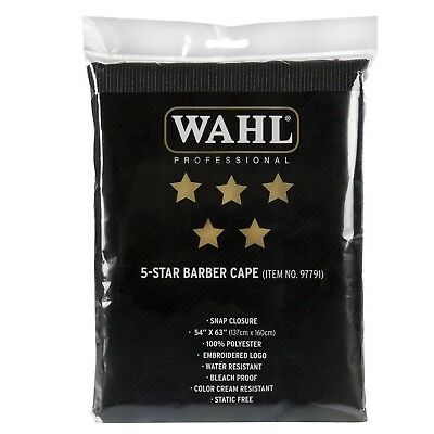 New Sealed Wahl Professional 5 Star Barber Cape #97791