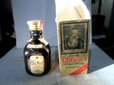 Grand Old Parr De Luxe Scotch Whiskey Miniature Bottle / Collectible Container