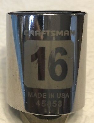 "16mm Made In USA Craftsman 3/8"" Drive 6 pt. Laser Etched Metric Socket"