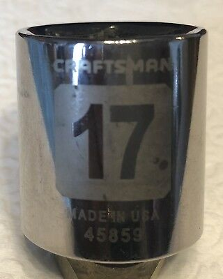 "17mm Made In USA Craftsman 3/8"" Drive 6 pt. Laser Etched Metric Socket"