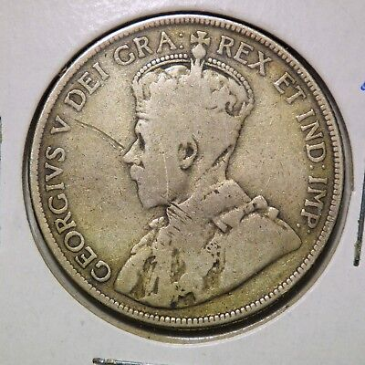 1911 Newfoundland 50 Cents King George V 92.5% Silver Canada *low Mintage*