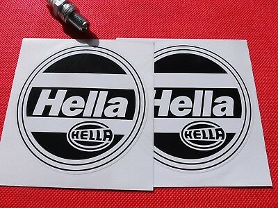 "Pair of  4"" Hella headlights stickers"