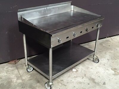 Jade Range 48 inch Heavy Duty Flat Griddle on Stand|FREE SHIP