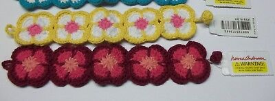 Lot of 2 Womens Girls Flower Crochet Bracelet Jewelry HANNA ANDERSSON NEW wt TAG