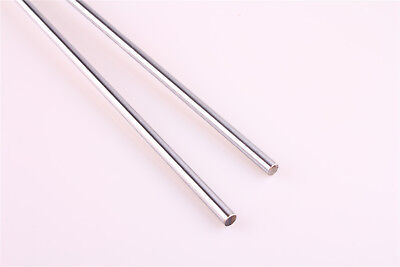 2Pcs Cylinder Rail Linear Shaft Smooth Rod Optical Axis OD 6-16mm L=100-500mm
