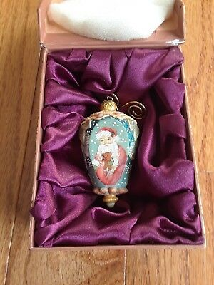 G. DeBrekht Christmas Ornament Hand Painted Santa clause in Orignal Box 2004