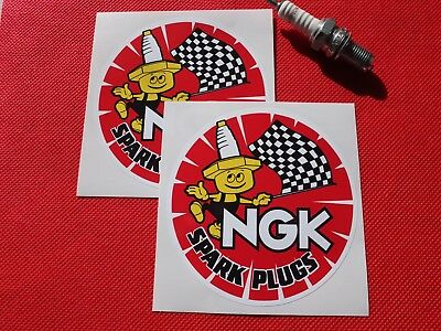Pair of NGK round stickers