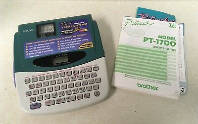 Brother P-Touch PT-1700 Label Printer-Electronic Thermal Labeling System Maker