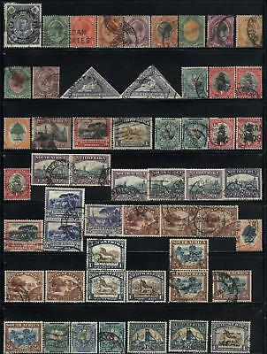 South Africa - 54 old stamps used - Years 1910 to 1954