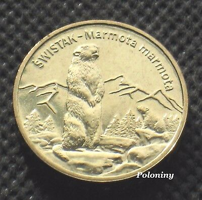 Commemorative Coin Of Poland - Animals Of The World Marmot - Swistak (Mint)