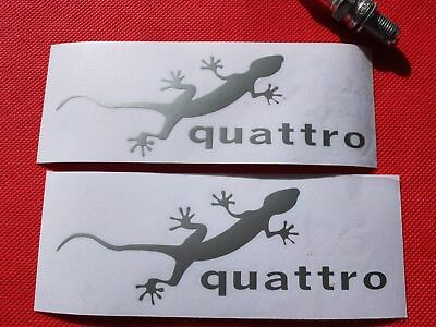 Pair of Audi quattro gecko stickers