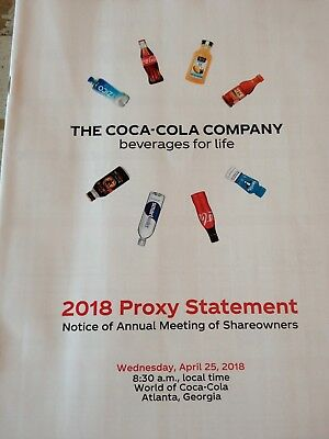 The Coca-Cola Company 2018 Proxy Statement New Original.
