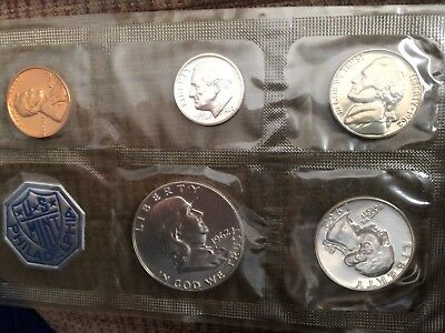 1962 P US Mint Silver Proof Coin Set