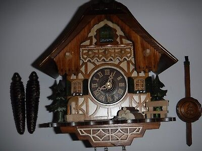 Authentic Original Black Forest Cuckoo Clock Made in Germany, Weights Driven VG