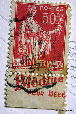 FRANCE STAMP CANCELLED BOOK ADVERTISING PUB ON PEACE 50c Yt 283 125CA73