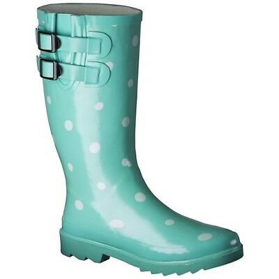 Women's Novel Dot Rain Boot - Mint 7