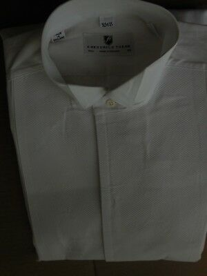 Frederick Theak formal wear cotton shirt, made in England, 15 1/2x34-35