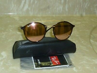 9faee7579cc Brand new Ray-Ban LightRay RB 4266 710 2Y Copper Mirror Round sunglasses  49mm