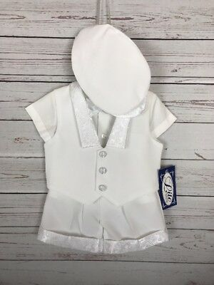 NWT Lito Boys Christening Wedding Formal 5 Piece Outfit Small 3-6 Months Defects