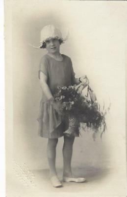 Oswestry Shropshire - Young Girl In Cute White Hat  Bridesmaid? Vintage Postcard