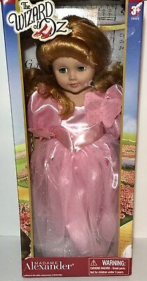 """New Box 18"""" Madame Alexander Wizard Of Oz Collectible Doll Glinda the Good Witch"""