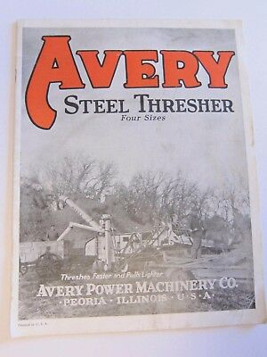 1930s? AVERY STEEL THRESHER BROCHURE / CATALOG * ACCESSORIES * 18 Pages
