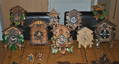 Bundle of Antique Cuckoo Clocks Egula Black Forrest German Spares and Repairs