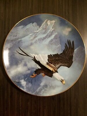 American Bald Eagle Collector Plate Ted Blaylock
