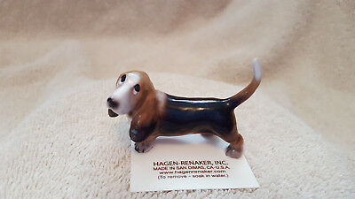 Hagen Renaker Dog Papa Basset Figurine Miniature Collect New Free Shipping 03154