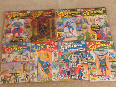 8 DC Superman Annual Comic Books 1-8 80 pages
