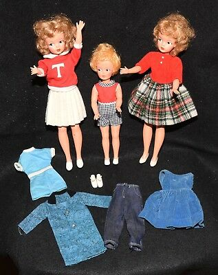 Vintage 1960's Tammy & Pepper Dolls + Lot of Outfits & Accessories