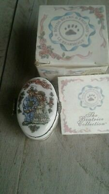 Boyds Bears Beatrice Le Bearmoge TRUE LOVE Porcelain Hinged Box