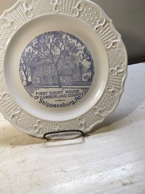 VINTAGE First Court House Of Cumberland County Shippensburg Pa. Plate