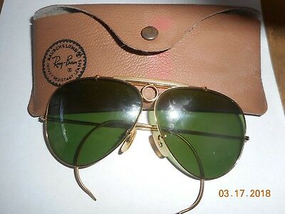 Vintage Ray Ban Bauch and Lomb bullet hole sunglasses with case
