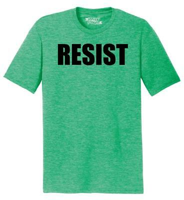 Mens Resist Tee Anti Donald Trump Political Protest Trump Rally Tee Tri-Blend