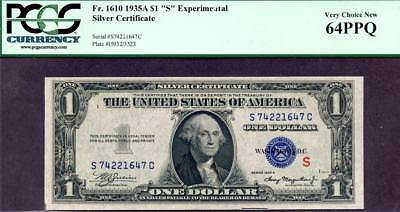 HGR SATURDAY 1935A $1 ((Experimental-S)) PCGS CHOICE NEW 64PPQ