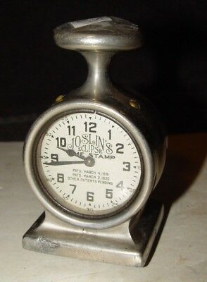 Vintage 1920 Art Deco Chrome Industrial Joslin's Eclipse Time Stamp Clock #54