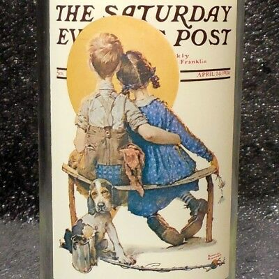 """Norman Rockwell Arby's Collectors Glass """"The Spooners"""" Saturday Evening Post"""