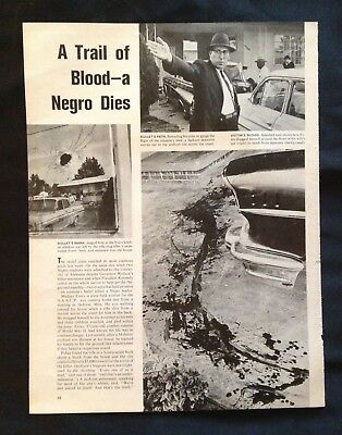 early 1960s Black Americana Article NAACP Leader Killed Jackson MS Lena Horne
