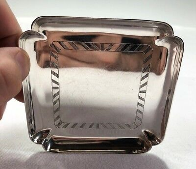 1939 English London Sterling Silver Small Tray Dish WWII Era Crichton Hand Made
