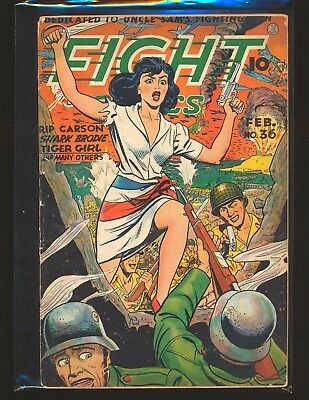 Fight Comics # 36 Good Cond. large spline split