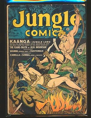 Jungle Comics # 36 Good Cond. tape on cover small amount of color touch