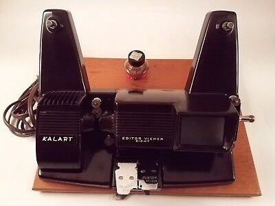 Vintage Kalart Editor Viewer Eight  Model EV 8 DS For All 8 MM Movies **Tested!!