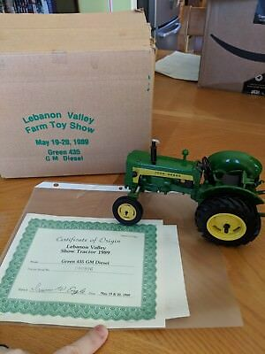 John Deere Green 435  GM Diesel Tractor Lebanon Valley Farm Toy Show Edition