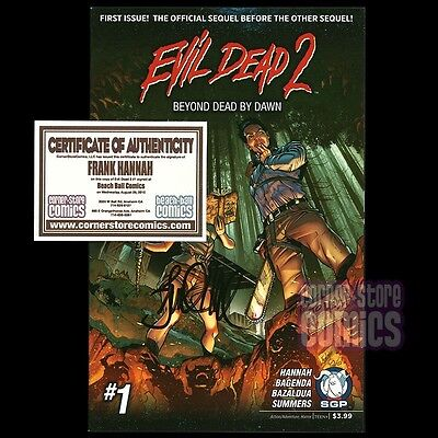EVIL DEAD 2 Beyond Dead by Dawn #1 Signed by FRANK HANNAH 1st Print Space Goat!