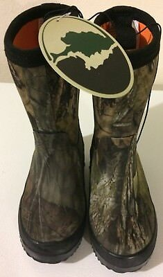 Mossy Oak Kids Size 9 Camouflage Rubber Boots Brand New