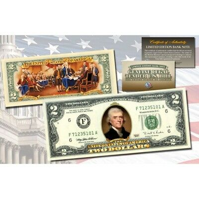 Legal Tender $2 Bill In Display Folder Never Forget 9//11//2001 Colorized U.S