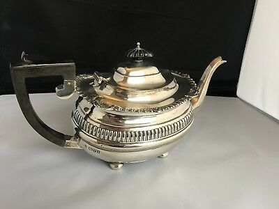 Stunning Antique 1905 Solid Sterling Silver George Nathan & Ridley Hayes Teapot